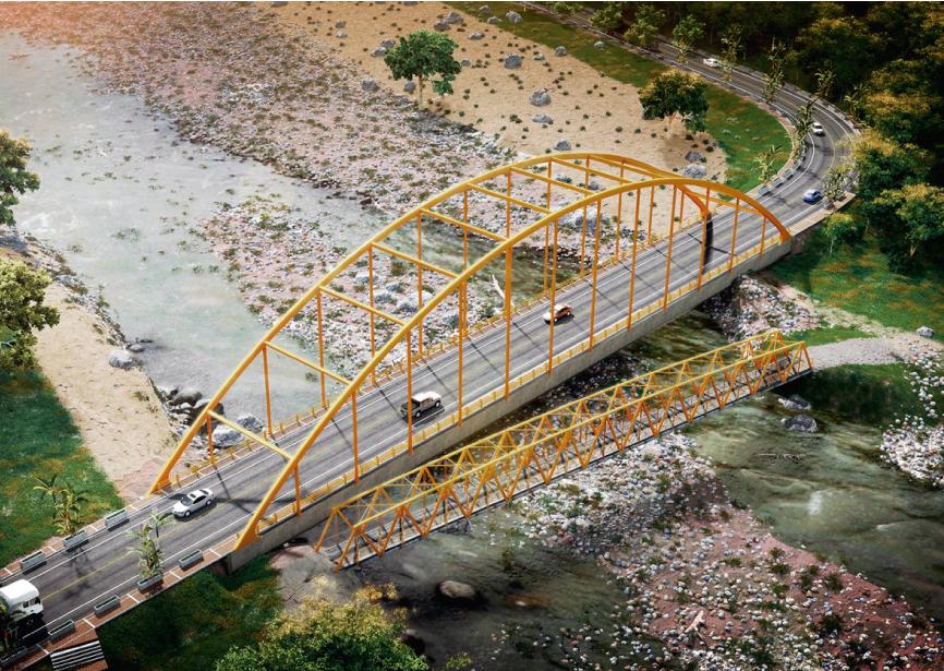 Puente Vehicular la Palmera, Via Duitama, Departamento de Boyaca