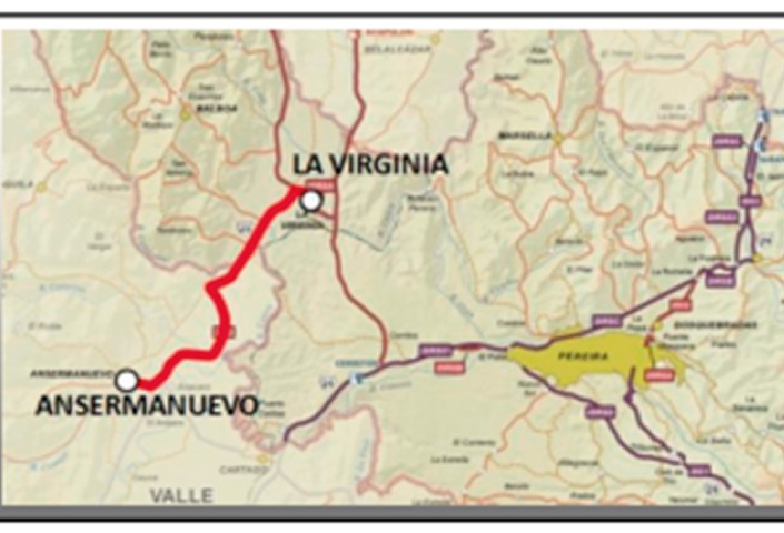 Mejoramiento de la vía Ansermanuevo – La Virginia – Risaralda